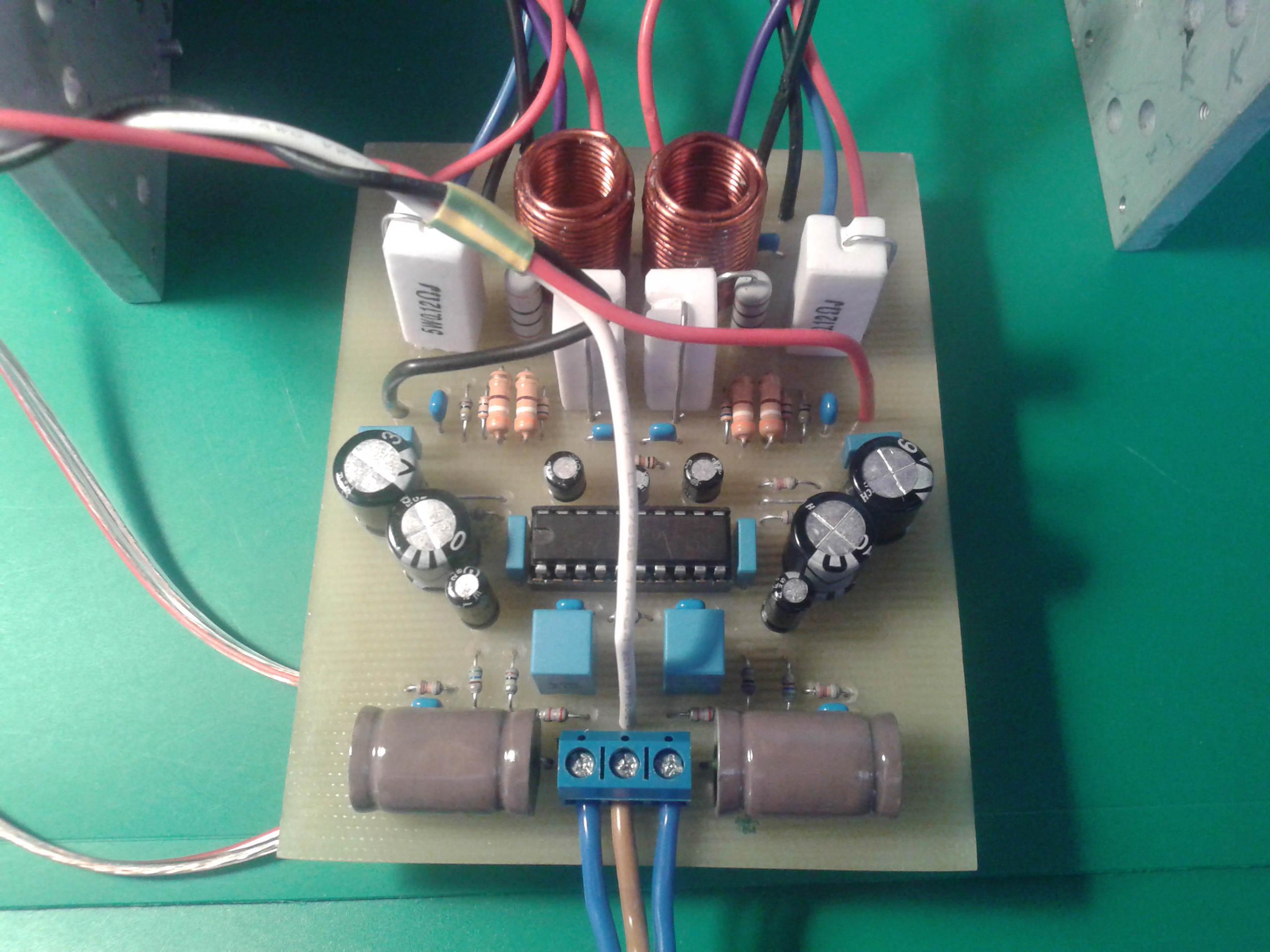 схема усилителя на lm3886 с темброблоком lm1036