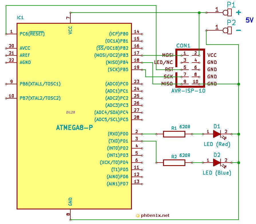 схема мигалки на светодиодах и