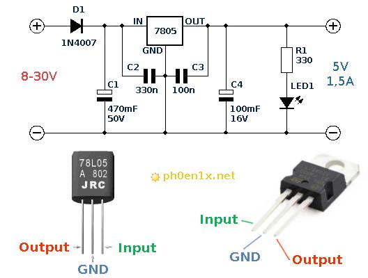 схема стабилизатора для AVR