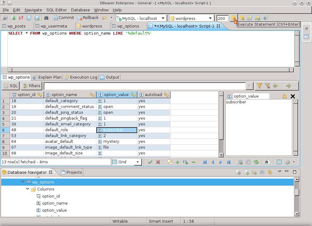 DBeaver - свободный менеджер баз данных (MySQL, PostgreSQL