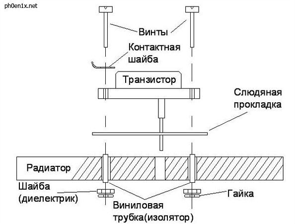 монтаж транзисторов на